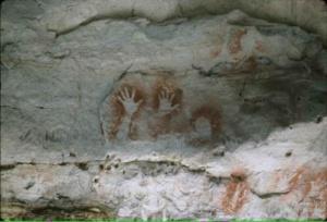 Aboriginal cave art