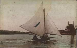 """Commonwealth"" Owned and Skippered by N Wright 10' Club Champion 1907-8 (photo courtesy Leigh Phair)"
