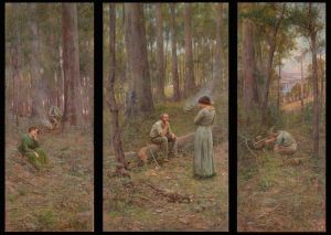 Frederick McCubbin's famous painting of ' The Pioneer'