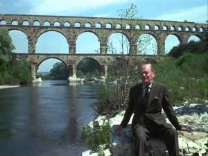 Kenneth Clark in a typical pose while presenting the 1969 TV documentary series 'Civilisation'