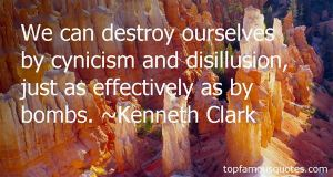 A quote from Kenneth Clark's 'Civilisation'.