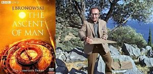 Dr Jacob Bronowski, wrote and presented the 1973 TV series 'The Ascent of Man'.
