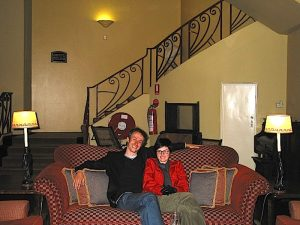 Hydro Majestic Hotel - Trevor and Edwina in 2003