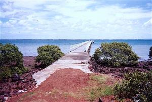 The former western jetty at Peel Island 1990