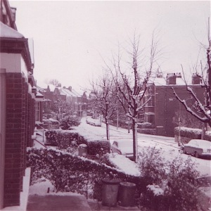 View from our flat at Ridge Road, London in 1969