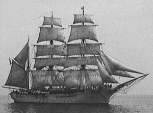 an Iron Sailing Vessel 3 Masted barque similar to the 'Ophelia'
