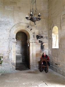 Bradford on Avon - Saxon Church - Phyllis pontificating