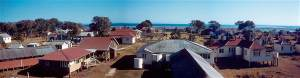 Peel Island Lazaret - c.1955 - buildings panorama (Dr Morgan Gabriel)