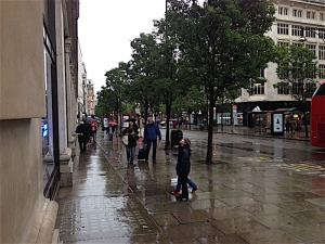 Oxford Street in the rain