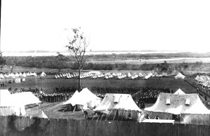 Army camp at Fort Lytton in the early 1900s. (Photo courtesy Rob Poulton)