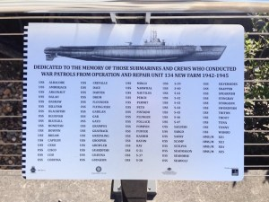 Plaque commemorating the US submarines that operated out of Brisbane during WWII