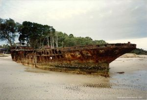 S.S.Cormorant (hulk at Bongaree)