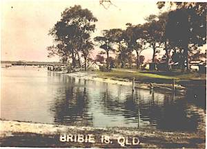 Bribie Island - koopa jetty, tents (Photo courtesy Marian Young)