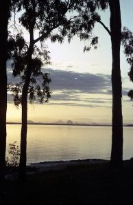 Bribie Island - sunset across the Passage