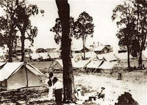 Camping at Bribie in the 1920s