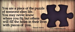 Bonnie Arbon's jigsaw puzzle quote
